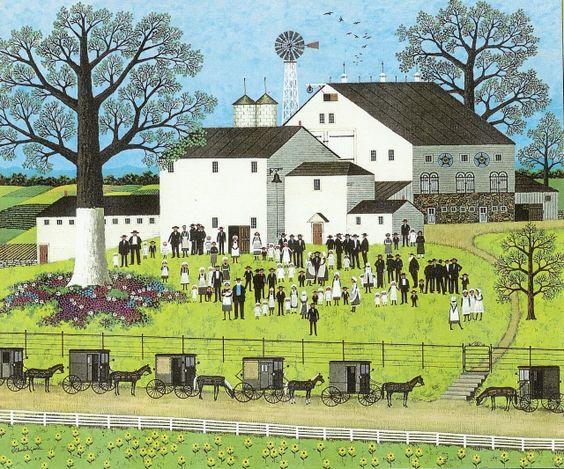 Amish Meeting - Charles Wysocki*