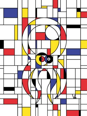 personnaliser tee shirt Poulpiet Mondrian