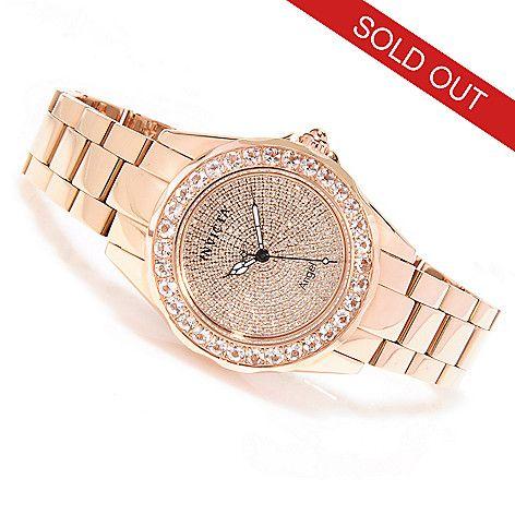 622-621 - Invicta Women's Angel Blush Diamond Pave & Morganite Bracelet Watch