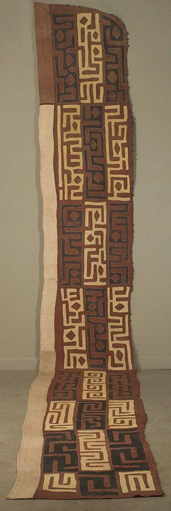 E-8605. Nagongo Raffia Applique Skirt. The Congo