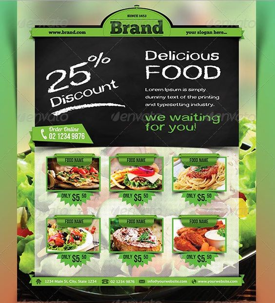 45 Best Restaurant Flyer Templates Free and Premium to Download – Restaurant Flyers Templates