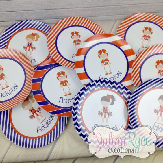 Super cute custom Clemson plates!!  You choose hair & eye color & jersey number!  LOVE!