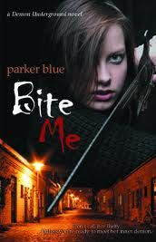Bite Me by Parker Blue  Our review can be found here:  http://www.chapter-by-chapter.com/review-of-bite-me-demon-underground-1-by-parker-blue/