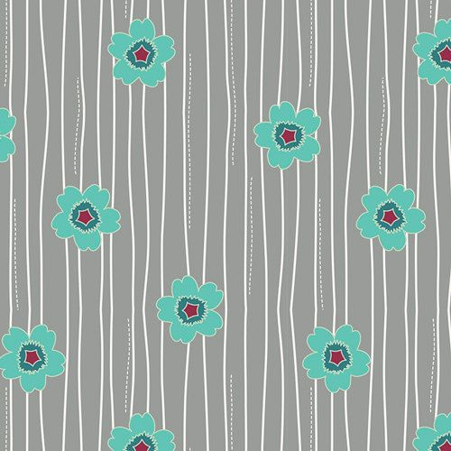 Aurélie Collection - Flowerfall en Jade (marguerites sur Gray) - Art Galerie tissus - Jenni Baker - 1 yard, supplémentaires disponibles