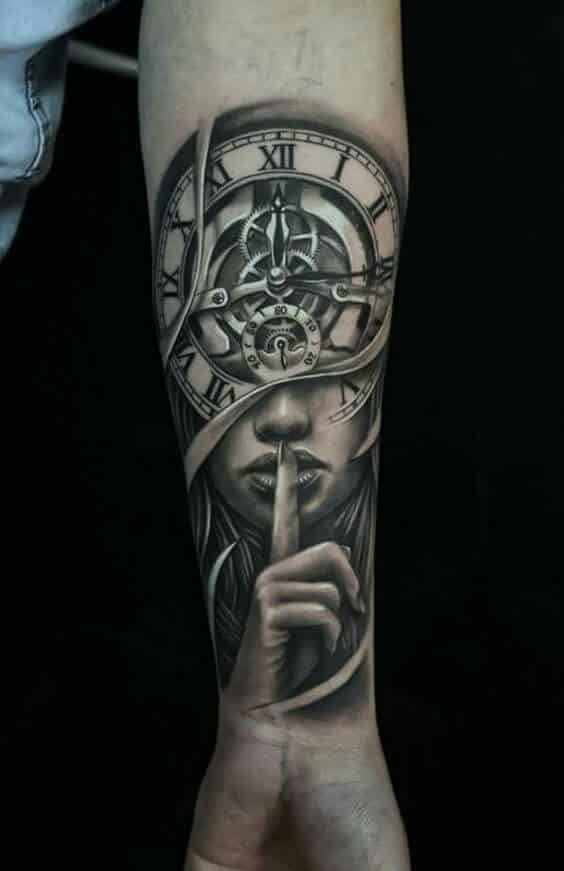 Clock Tattoos For Men Cool Arm Tattoos Arm Tattoos For Guys Tattoos For Guys