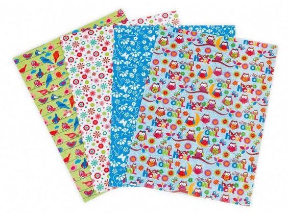 4 Deko-Filzplatten in DIN A4. Die Filzplatten haben eine Stärke von ca. 1,5 mm.   Das Deko-Filz-Set enthält Filzplatten in 4 unterschiedlichen Designs: Eulen, Vögel, bunter Blumen-Mix und...