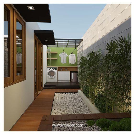 Lavaderos Exteriores Como Decorar Y Organizar El Lavadero Exterior Jardines De Casas Pequenas Diseno De Patio Pequenas Habitaciones De Lavadero