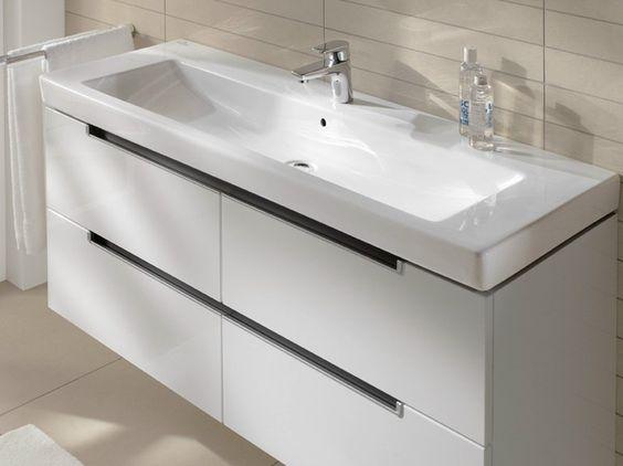 Rechteckiges Waschbecken aus Keramik SUBWAY 2.0 Kollektion Subway 2.0 by Villeroy & Boch