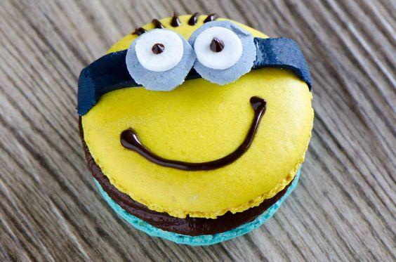 Macarons-Minions mit Bananaa