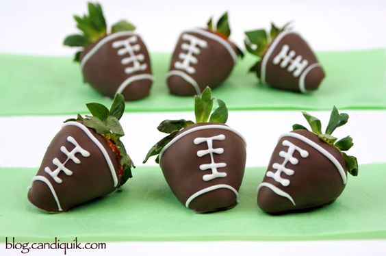 Chocolate Covered Strawberry Footballs   @Miss CandiQuik: