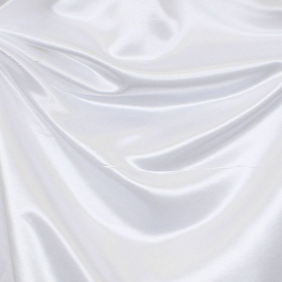 Silk Look Polyester White Fabric