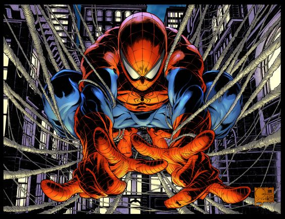 Avenging Spider-man #1 Variant by Joe Quesada Inks by Danny Miki Original colours by Richard Isanove and These colours by Paris Alleyne