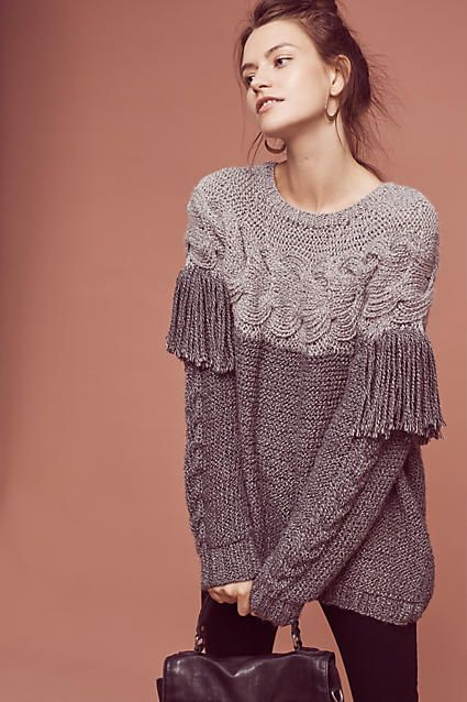 Aumar Fringed Wool Pullover - anthropologie.com                              …