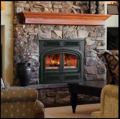 Lancaster Vent Free Gas Stove GSD4400 Fireplace Mantel