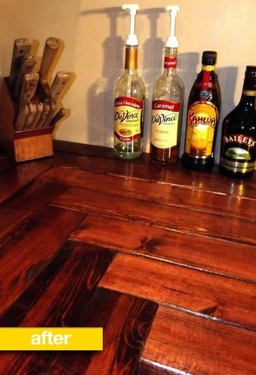 counter tops from 2x 4(but I'd never use pine for a countertop)