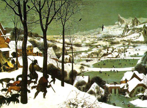 Hunters In The Snow-Pieter Bruegel