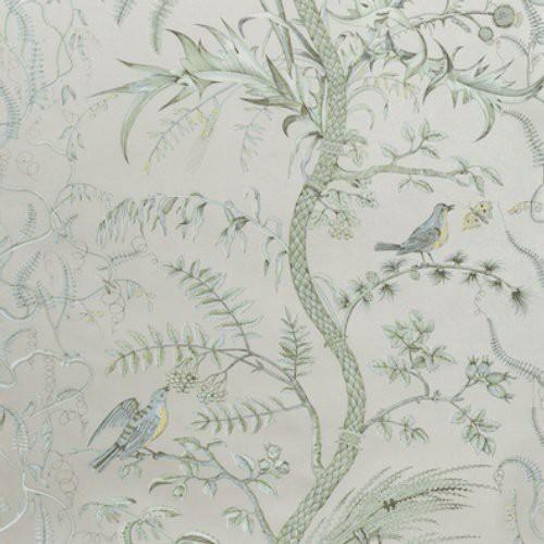 Brunschwig Fils Bird And Thistle Silver Wallpaper In 2021 Silver Wallpaper Thistle Wallpaper Green Wallpaper Bird and thistle wallpaper green