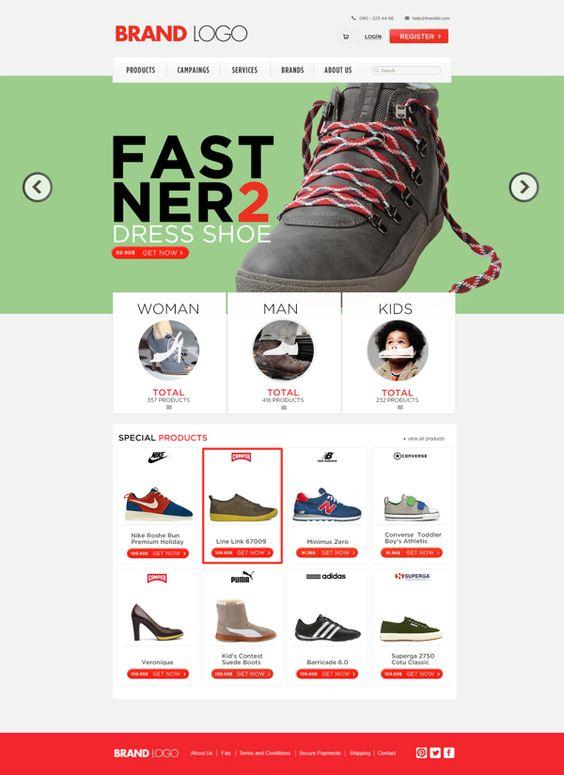 Shopping Template (free psd) by Enes Danış, via Behance