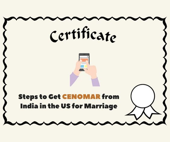 Steps to Get CENOMAR from India in the US for Marriage NRI - invitation letter for us visa notarized