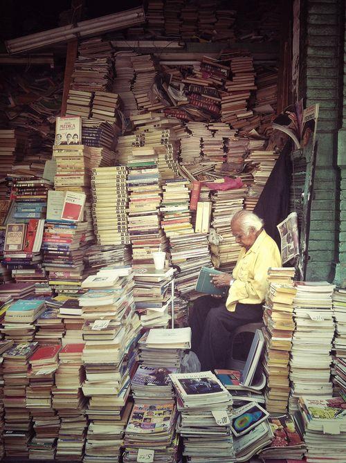 books 4 life - I would organize them into bookshelves though, I swear!  :)