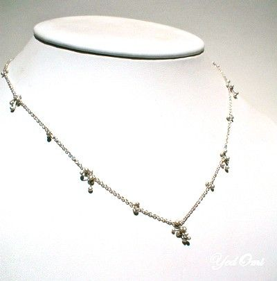 Baby's Breath Necklace- SS