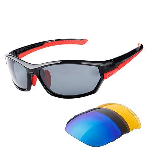 8e36a868ea Duco Polarised Sports Mens Sunglasses for Ski Driving Golf Running Cycling  Tr90 Superlight Frame With 3
