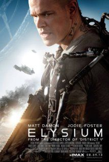 Elysium (2013) - Matt Damon  Set in the year 2154, where the very wealthy live on a man-made space station while the rest of the population resides on a ruined Earth, a man takes on a mission that could bring equality to the polarized worlds.