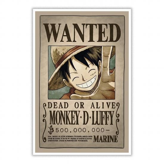 Luffy Wanted Poster Luffy Onepiece Fanart Printedposter Onepieceswimsuit Cartoon Anime Animeart Monkey D Luffy Luffy Luffy Bounty