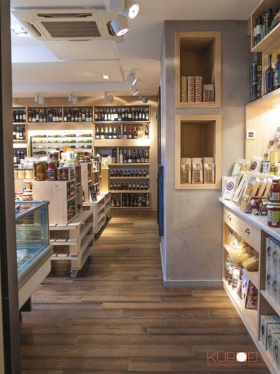 Abarrotes. Tienda de productos Gourmet en las Matas. Madrid. By Kuboene. Interiorista Natalia Casco