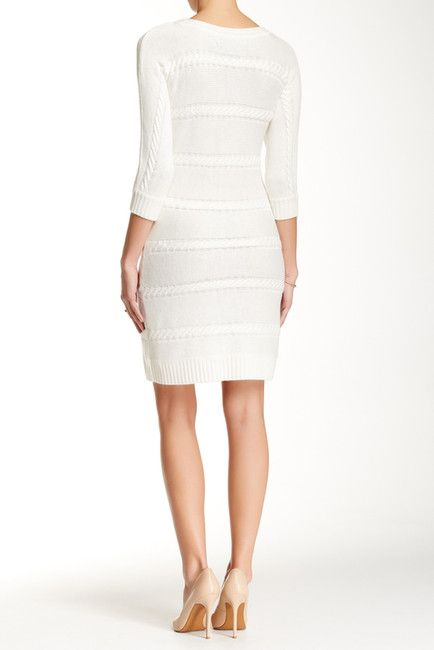 Marc New York by Andrew Marc |         Cable Knit Midi Dress | Nordstrom Rack