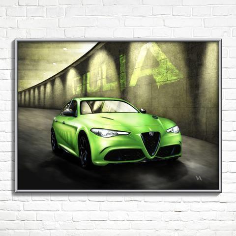 Alfa Romeo Giulia 6 Underground Free Hand Poster By Artist Alfa Romeo Giulia Alfa Romeo Romeo