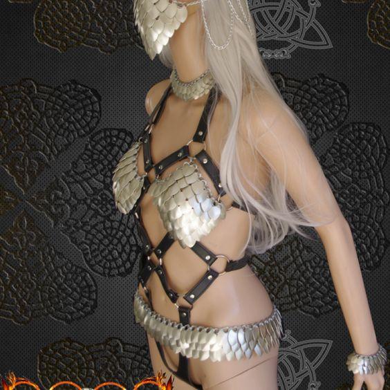Luna Harlot Queen ensemble  Handmade in australia vegan leather  ethical fashion  wearable art
