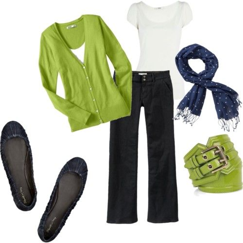 Lime & navy - love!