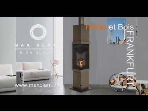 Atre Design Var Cheminees Poeles Inserts Poele Mixte Pellet Et Bois Max Blank Frankfurt Deco Maison Poele A Bois Bois