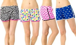 Groupon - 4-Pack of Women's Printed Lounge Shorts in [missing {{location}} value]. Groupon deal price: $15.99