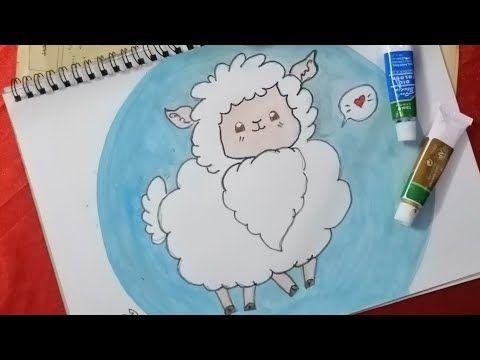 رسم خروف العيد للاطفال How To Draw A Sheep For Kids L Drawing Easy L Drawing For Kids Easy Youtube My Drawings Drawings Art