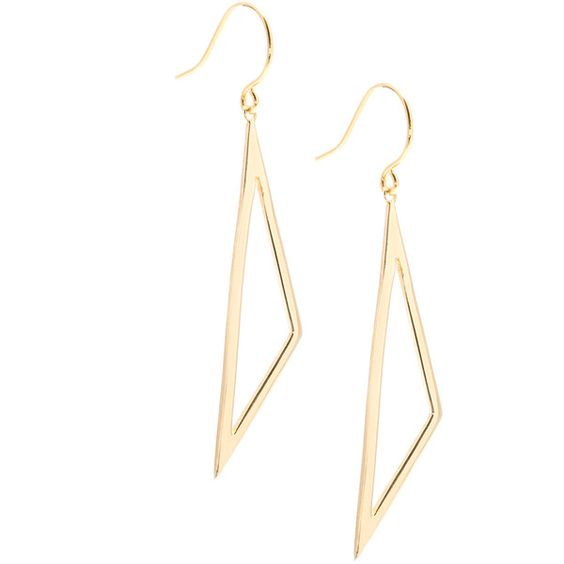 Gorjana Greer Triangle Drop Earrings ($45) ❤ liked on Polyvore