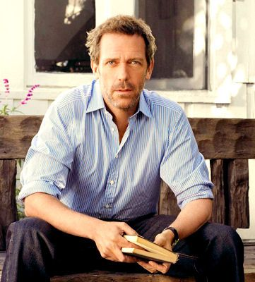 Hugh Laurie  (And the fact that he's holding a book makes everything better.)