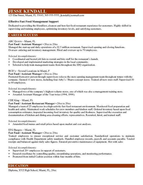 Fast Food Worker Resume ResumecompanionCom  Resume Samples