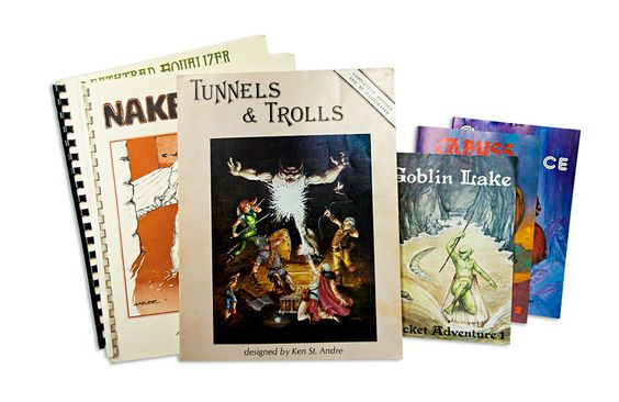 Tunnels & Trolls (or T&T for short) was designed and developed by Ken St. Andre and first published in 1975 by a company called Flying Buffalo Inc. It is considered to be the second role-playing game ever to hit the market, after Dungeons & Dragons (D&D), which was released a year earlier in 1974.   #tunnels&trolls