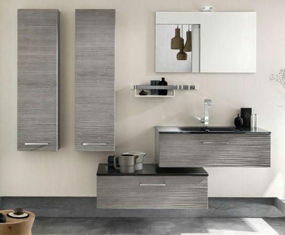 Wandschrank für Badezimmer grau hängend modern wasserhahn Salle - badezimmer wandschrank