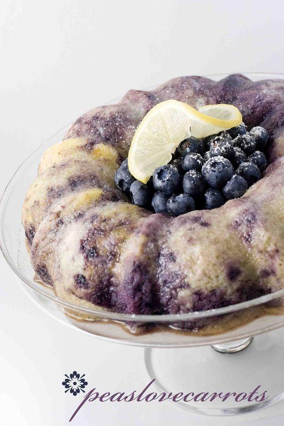 Blueberry Lemon Bundt Cake.  Used yellow cake mix and greek yogurt.