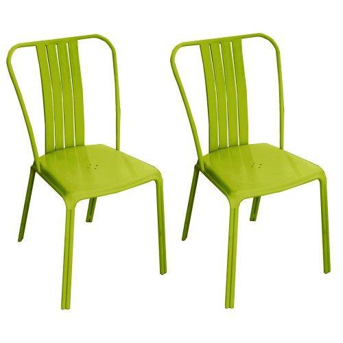 Chaise De Jardin Azuro Verte Lot De 2 Chaise De Jardin Chaise D Exterieur Chaise