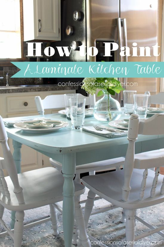 How to paint a laminate kitchen table from Confessions of  : 59f3d79d072f0073e1a9e92995639f7d from www.pinterest.com size 550 x 825 jpeg 73kB