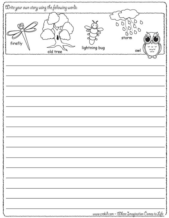 rd Grade Writing Prompts   Radix Tree Online Tutoring     Halloween   Writing Fun   Write your own story using our writing prompts   We give you five words on our printout sheet and you create a story  First  Grade