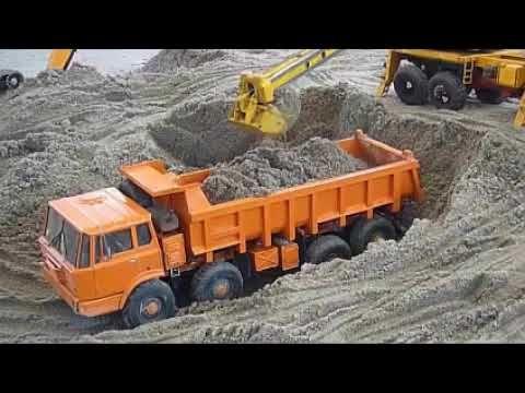 Beko Excavator Muat Pasir Ke Truk Besar Mobil Mainan Anak Truk Besar Mainan Anak Mobil Mainan