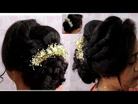 Hair Style Make Messy Bun On Very Thin Hairs Without Stuffing Diy Step By Step Youtube Diy Hairstyles Hair Styles Bridal Hair Buns