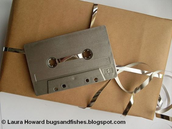 Bugs and Fishes by Lupin: Gift Wrap Idea: Cassette Tape Gift Tags / Toppers