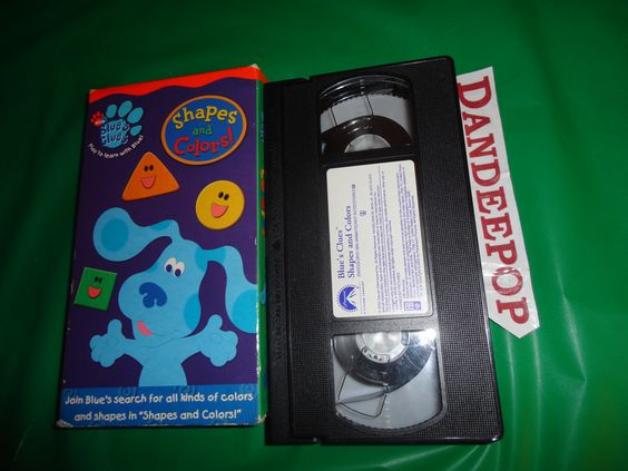Blue's Clues Shapes And Colors VHS Video Movie 2003 Find