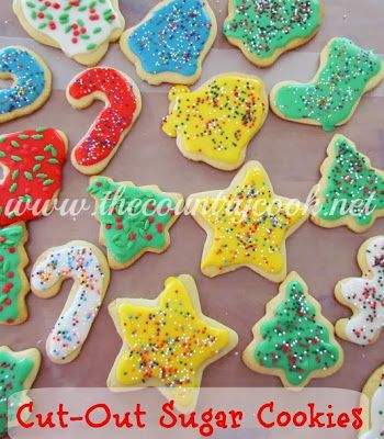 Cut-Out Sugar Cookies Recipe Cookie icing, Christmas sugar